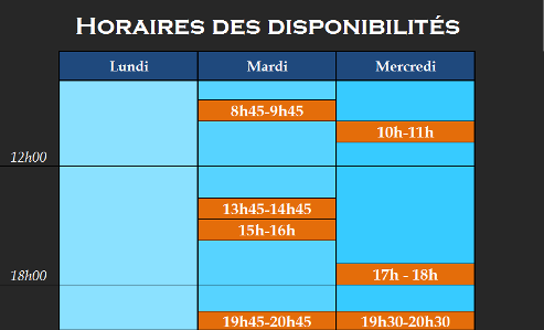 horaires cours piano clermont-ferrand