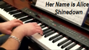 video piano Shinedown Her Name is Alice
